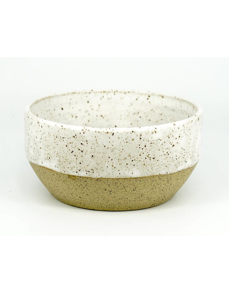 Christi Ahee White Speckled Bowl