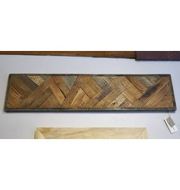 "Sweet Grass WoodWorks Rustic Wood Wall Art Abstract MTN- 36.5"" W x8.5""H x 1""D"