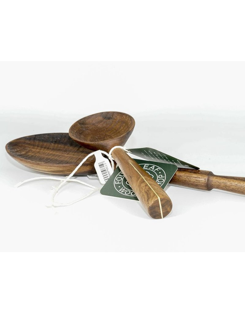 Four Leaf Wood Shop Walnut an Brass Line Coffee Scoop