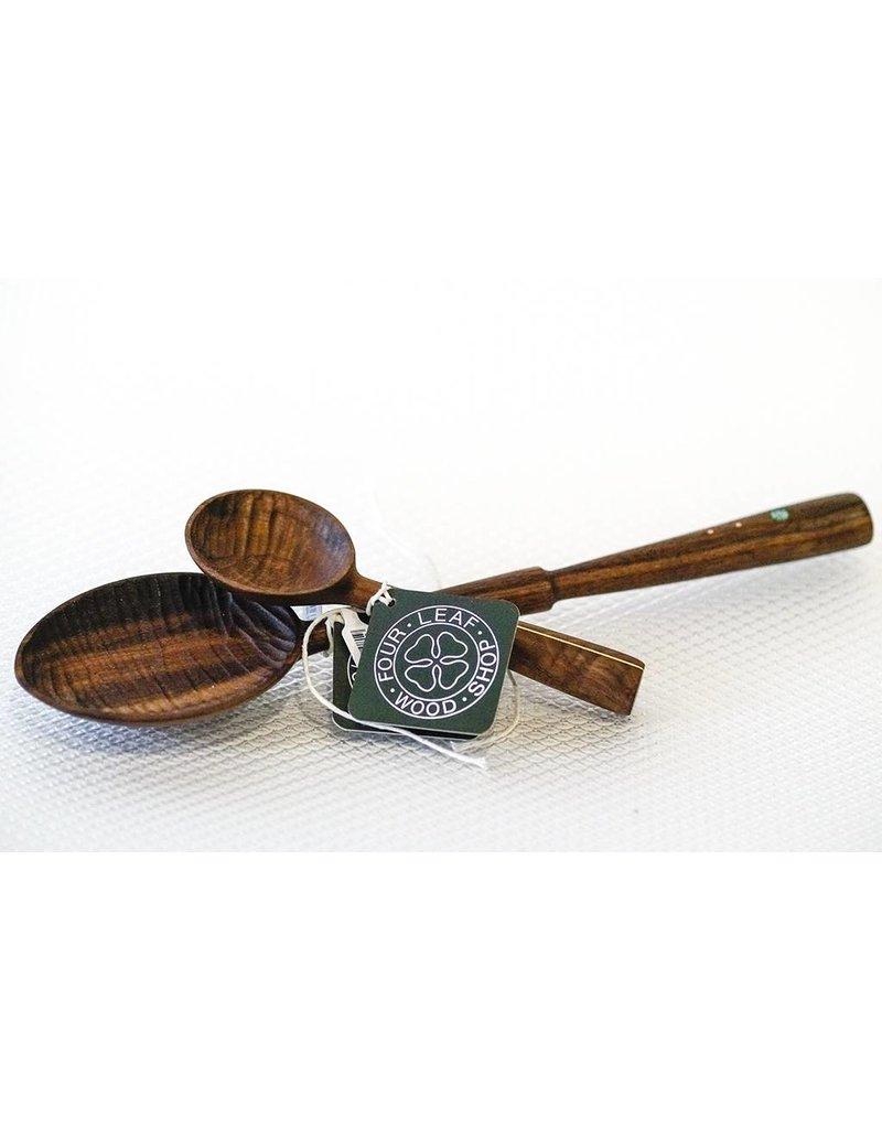 Four Leaf Wood Shop Walnut Tur Copper Single Step Spoon