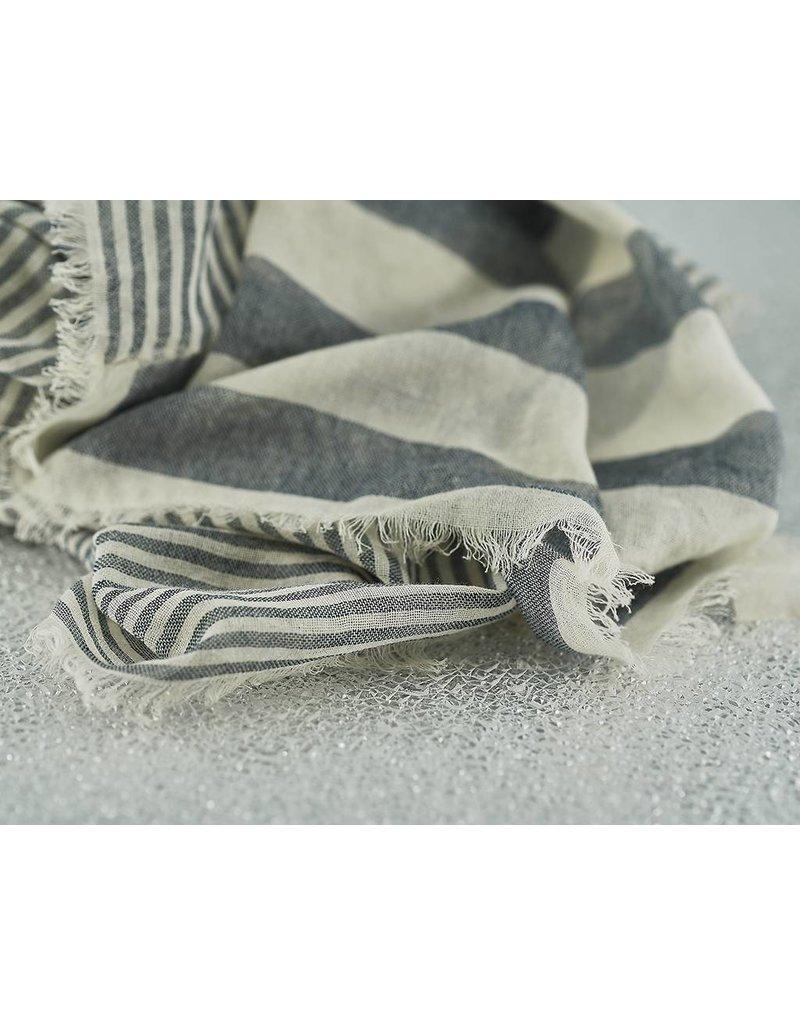 Bloom & Give Sagar Gray Cotton Scarf