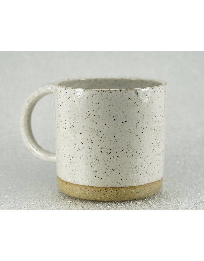 Christi Ahee White Speckled Mug