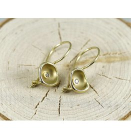 Sarah Graham Metalsmithings Confluence French Hook Earrings-.06ct tw white diamonds