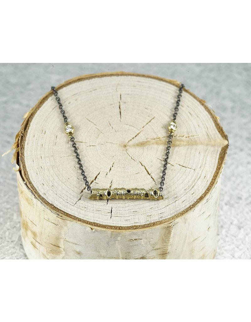 "Sarah Graham Metalsmithings Aspen 18"" Necklace; One Gold Stick XS"