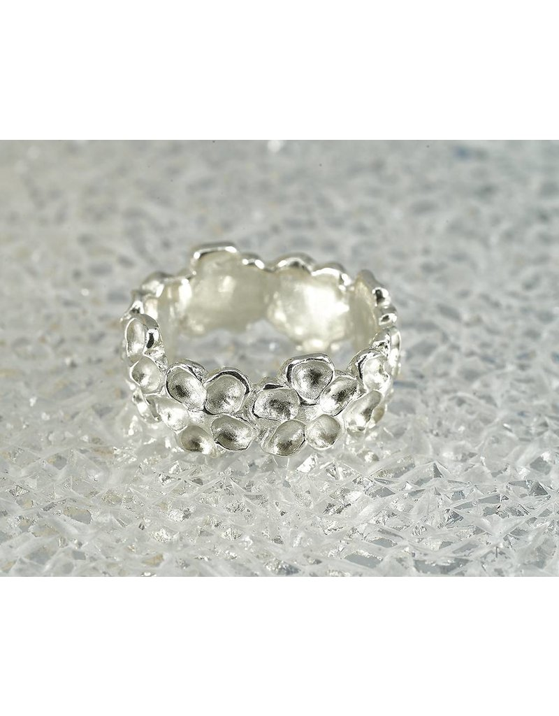 Judi Powers Jewelry Impatiens Sterling Silver Ring -Size 7