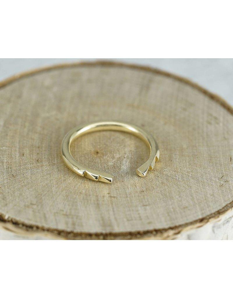 Elle Naz 3 Spike 14k Gold Open Ring