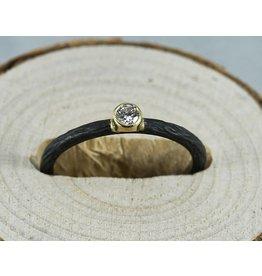 Sarah Graham Metalsmithings Pebble Stacking Ring with .10 ct white diamond CC