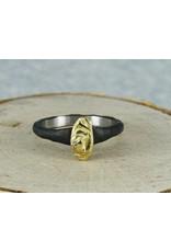 Sarah Graham Metalsmithings Arches Stack Ring Vertical YG/CC