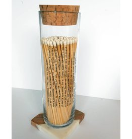 Skeem Design Poetry Fireplace Match Bottle