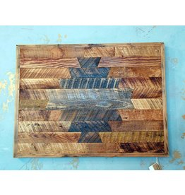 "Sweet Grass WoodWorks Rustic Wood Wall Art-22.5 W x20""H 1""D"
