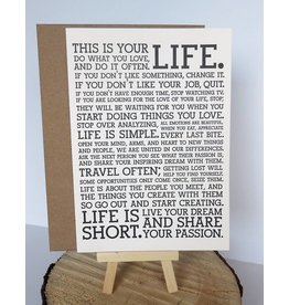 Holstee Manifesto Card