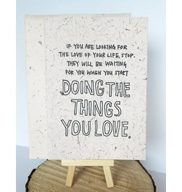 Holstee Love of Your Life Card-(yoko)