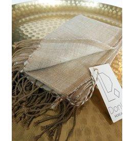 Creative Women Petra Beige Warp Cotton Hand Towel