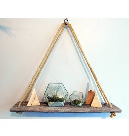 Jeff Pearson Barn Wood Rope Shelves