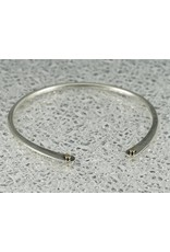 Elle Naz Sterling Silver Cuff-4 solid tubes-B-006