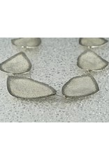 "Jenny Reeves 10 Piece, Geo Collar Necklace, Brite Sterling Silver w Oxidized edges,  1"" inch extender"
