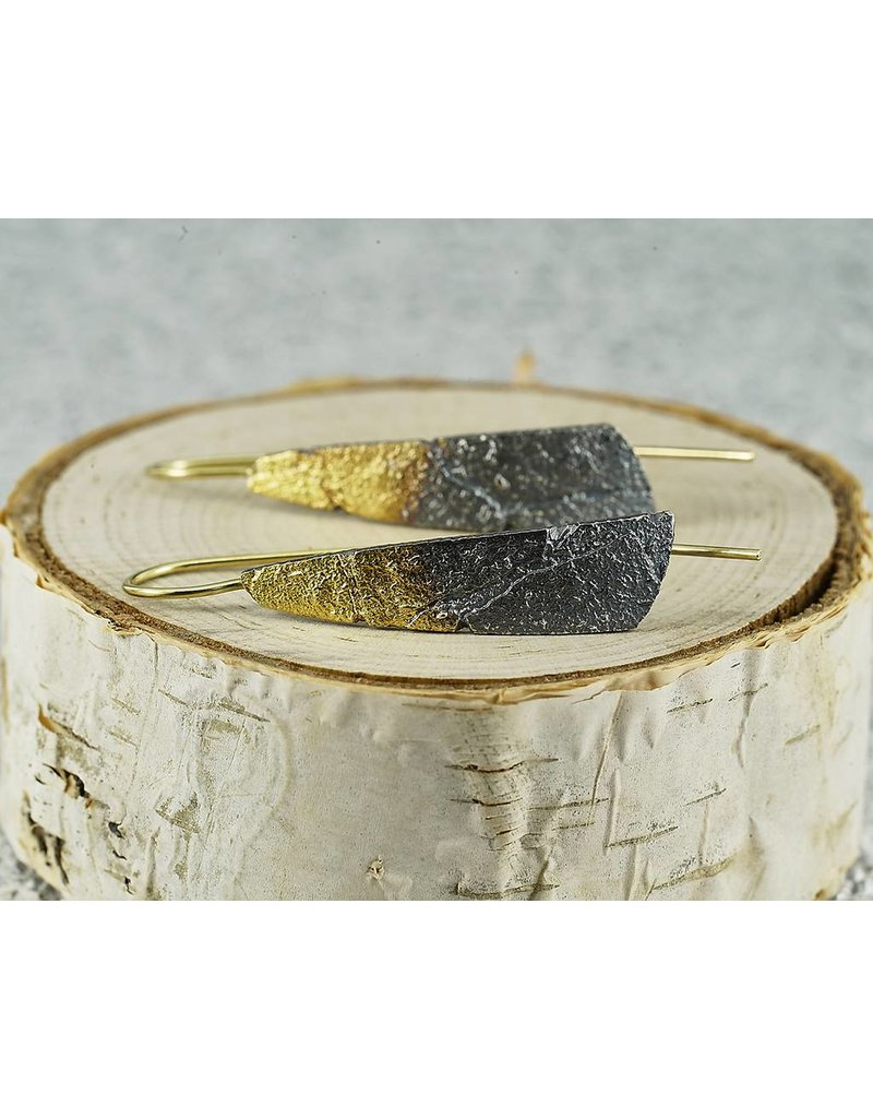 Jenny Reeves Bedrock Blade with 18k wire, Keum-Boo