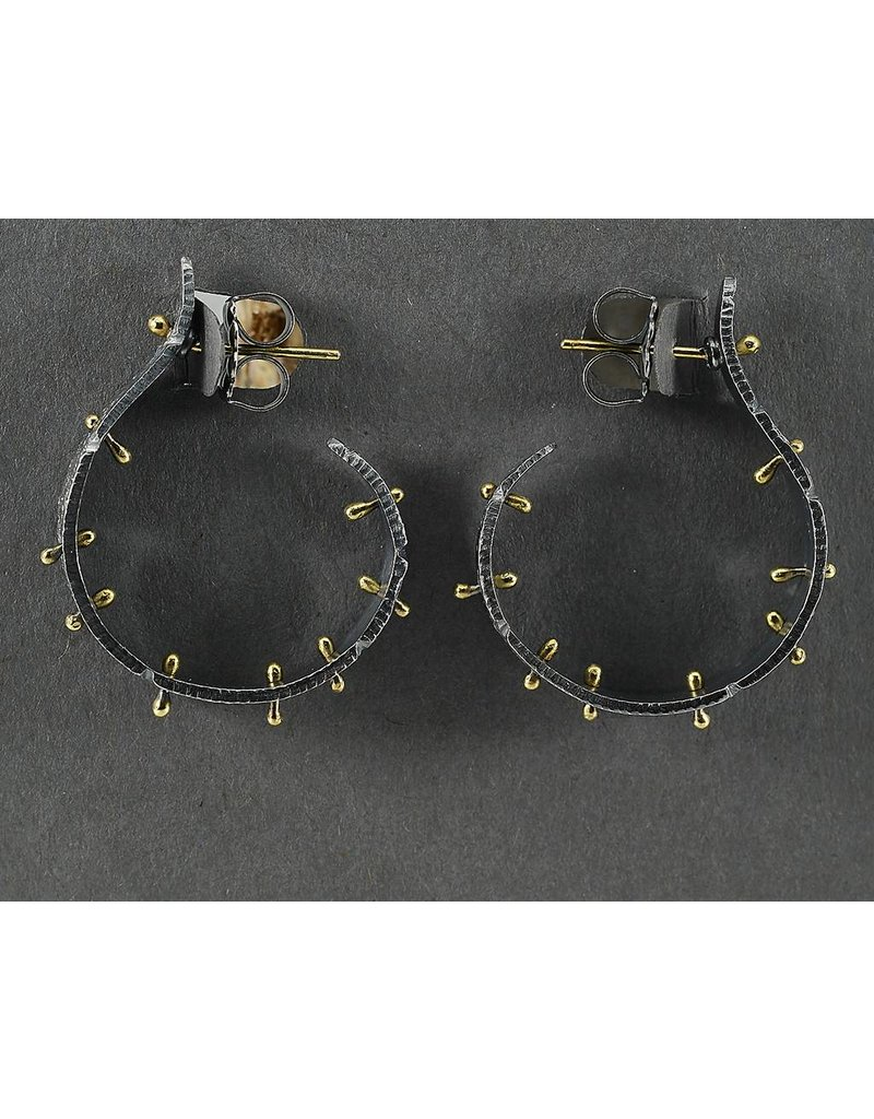 Jenny Reeves Bedrock Sprout Hoops OX SS & 18K