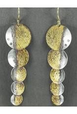 Jenny Reeves Au Shadow Shimmer Earrings, Diamonds, Keum-Boo, 18k Wire