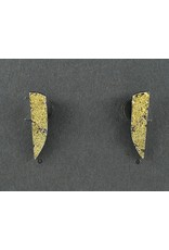 Jenny Reeves Bedrock Dagger Studs, 23k Keum-Boo