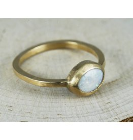 Nichole Shepherd Jewelry Gold Opal Ring