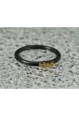 Elle Naz Round sterling ring w/ 3 14k wires