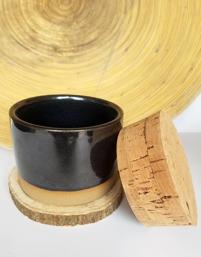 Settle Ceramics Salt Jar-Matte Black