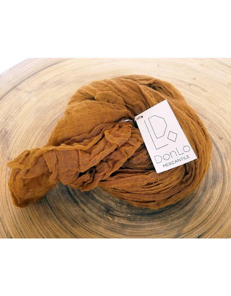 Scarf Shop Fine Organic Cotton Scarf Small-Saffron