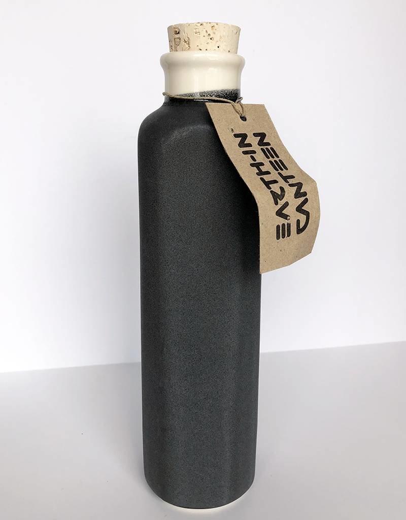 Earth-In 4 Corners 24oz Water Bottle-Charcoal