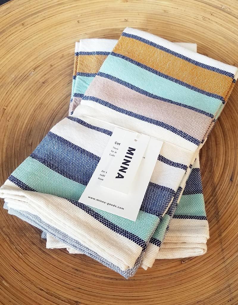 MINNA Lago Stripe Napkin-set of 4
