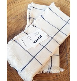 MINNA Cream Grid Napkins-Set of 4