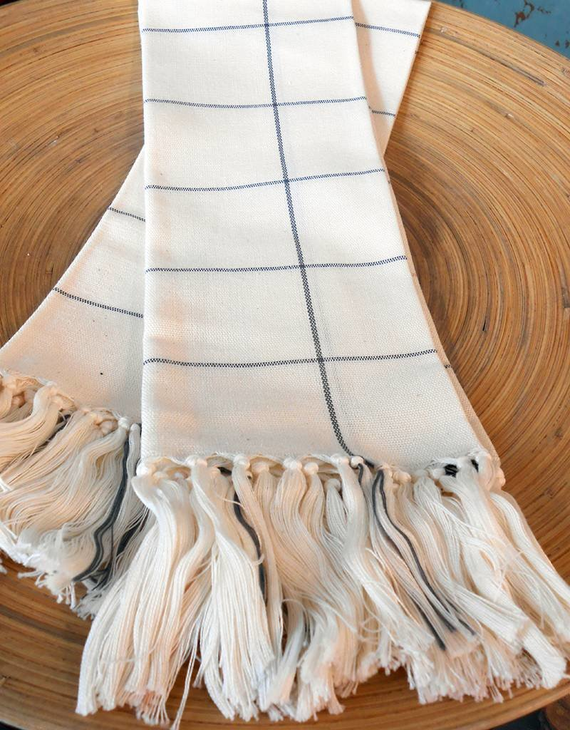 MINNA Cream Grid Towels