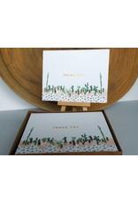 Ferme A Papier Foil of Succulent Thank You Cards Box