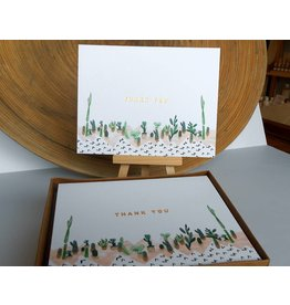 Ferme A Papier Foil of Succulent Thank You Cards Box