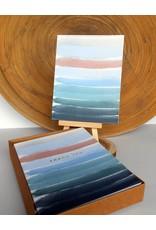 Ferme A Papier Foil Ocean Stripes Thank you Cards Box