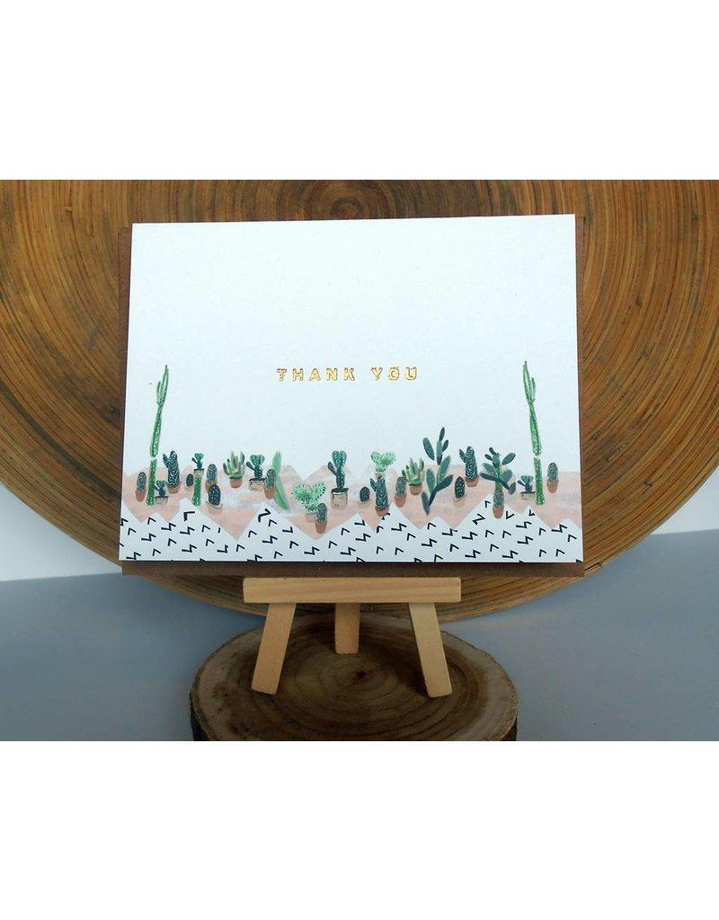 Ferme A Papier Foil Succulant Thank You Cards