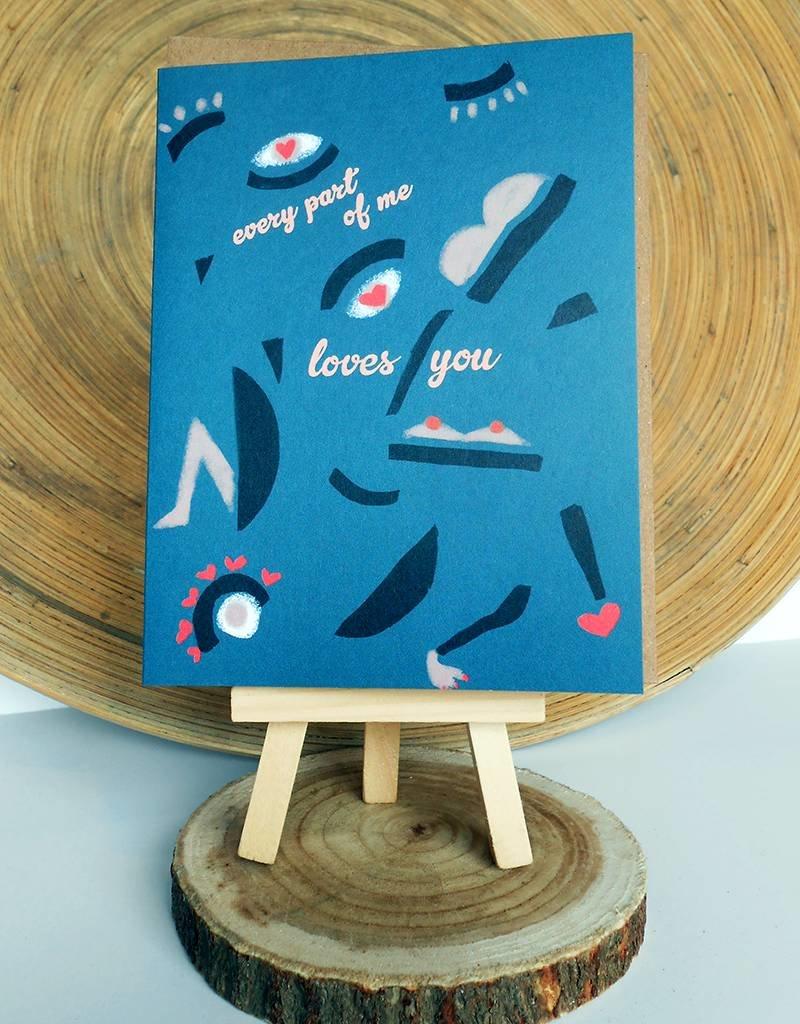 Ferme A Papier Body Parts Love Card