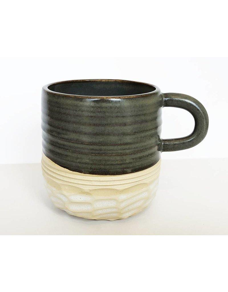 Unurth Ceramics Horizon Espresso Mug-Grey/White