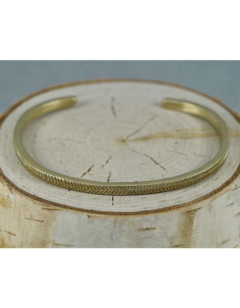 Sarah Swell Jewelry Feather Cuff 14K Gold
