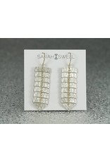 Sarah Swell Jewelry Fishbone Slim 7Bone Earrings-14k Gold Balls