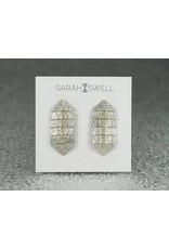 Sarah Swell Jewelry Fishbone Mini 4 Bone Studs with 14k Gold