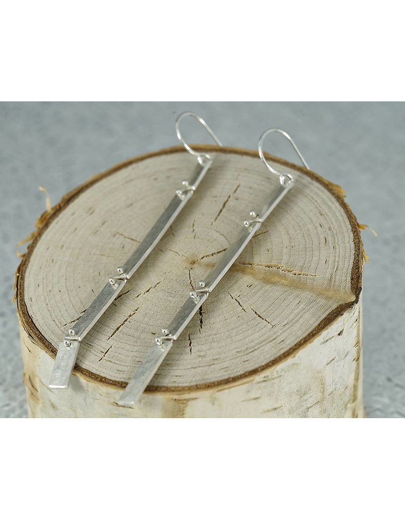 Sarah Swell Jewelry Column Slim Earrings Sterling Silver