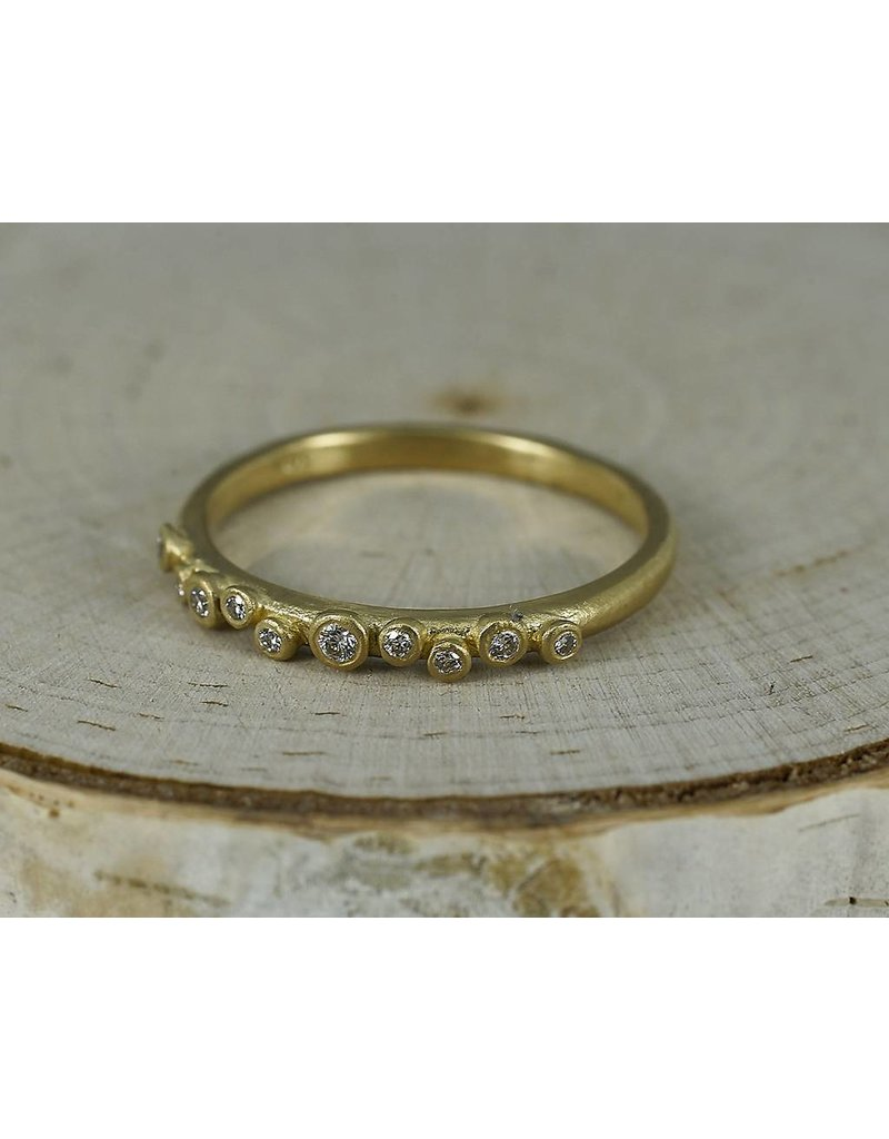 Sarah Swell Jewelry Bridal: Galaxy 18k with Diamonds Band-size 6