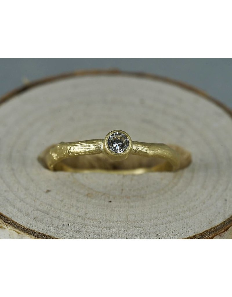 Sarah Swell Jewelry Bridal: Vine Solitaire 18ky- Size 6.5