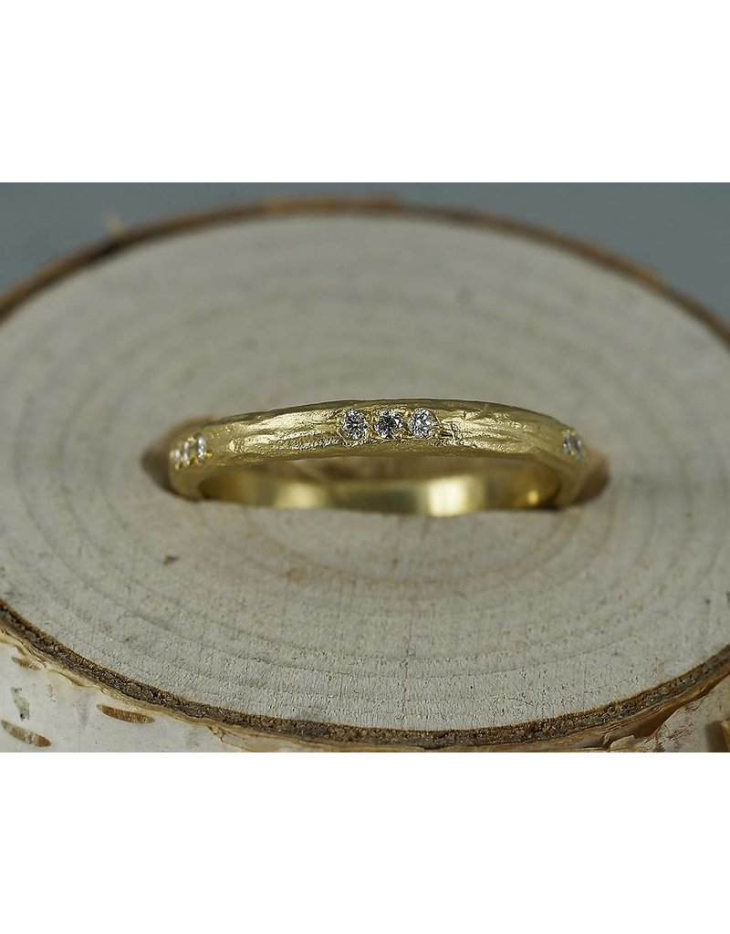 Sarah Swell Jewelry Bridal: Eucalptus Diamond Band-size 6.25