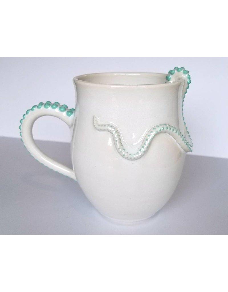 The Clay Cache Porcelain Octopus Mug-Sea Green
