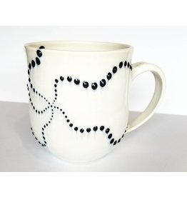 The Clay Cache Brittle Star Mug-Grey