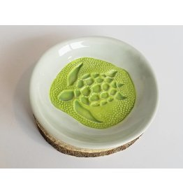 The Clay Cache Trinket Dish- Green Sea Turtle