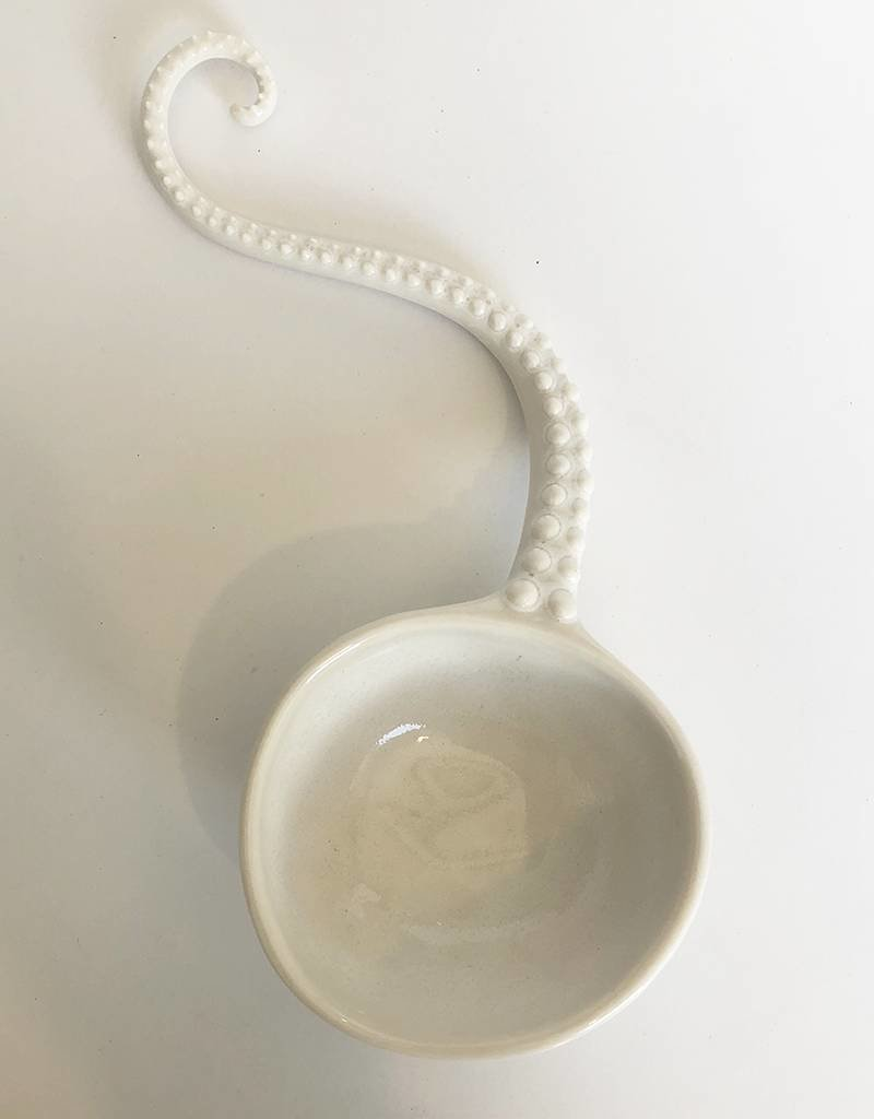 The Clay Cache Scoop Spoon-White Dots