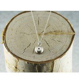 Judi Powers Jewelry Wish Necklace Sterling Silver-Ruby